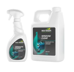 Select a glass cleaner safe for automotive windows.